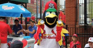 Fredbird Cardinals Ice Cream Sunday