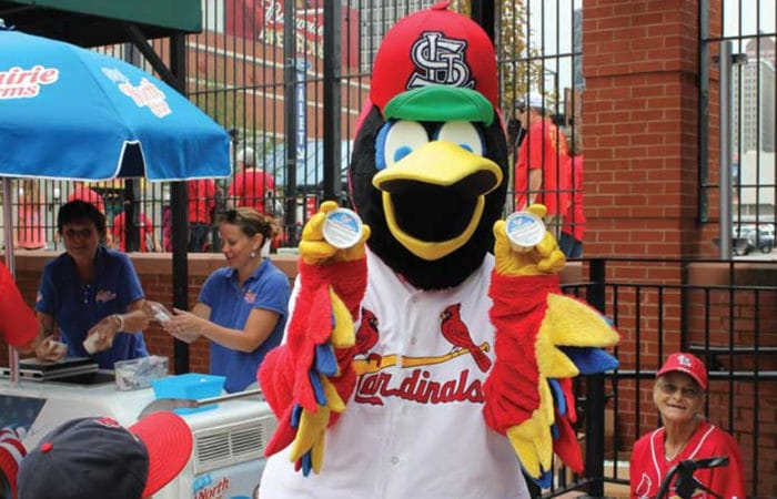 Fredbird Cardinals Ice Cream Sunday